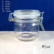 250ml glass jars with clip lids glass jar with metal lid SLJe148