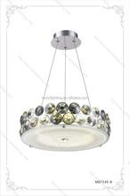 G9 Light Source and Chrome Color pendant hanging lights Diameter 420mm