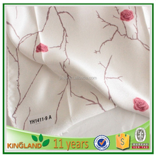 Manufacture transfer printing living room window curtains flower print fabric