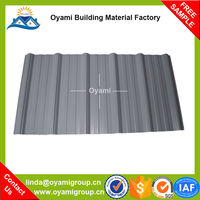 Construction materials semi-rigid pvc curved roofing tile for industrial warehosue