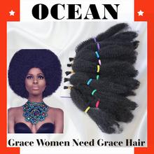 2015 fashion Noble Gold Wholesale Synthetic kinky twist Bulk Hair