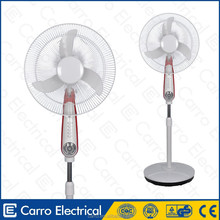 Good quality and convenient high rotation speed pedestal 16inch recharge fan