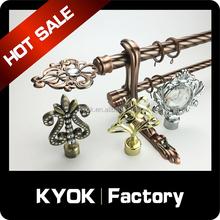 KYOK Nice design Metal Curtain Rod wholesale ,polished brass wrought iron window rod diy OEM design