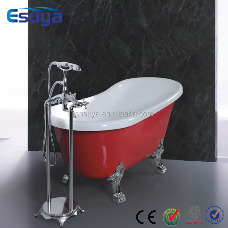 Acrylic Clawfoot Freestanding Red Bathtub With Legs Buy Bathtub Red Bathtub