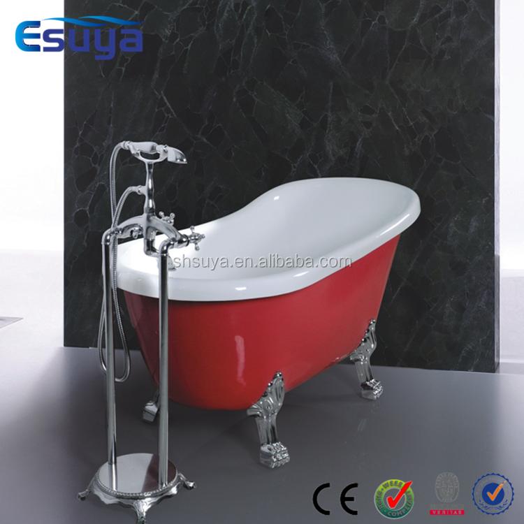 Acrylic Clawfoot Freestanding Red Bathtub With Legs Buy Bathtub Red Bathtub