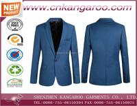 man suit for uniform design slim suit blue color