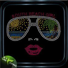 2016 Hotsale Bling Sunglasses Rhinestone Motif for T Shirt Design