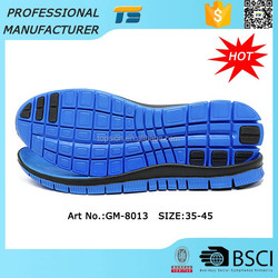 EVA Foam Rubber Latest Men Shoe Sole Design Sports Shoe Sole Manufacturers