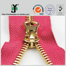 3# 5# 8# fancy gold zipper slider with ISO 9001 certification