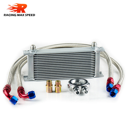 wholesale universal racing car row 16 oil cooler kit motorcycles