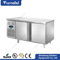 Professional Stainless Steel Fancooling Undercounter Bar Fridge