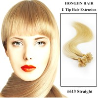 TH-025 Brazilian Virgin Human Hair U Tip Prebonded Hair Blond 100 Keratin Tipped Human Hair Extension