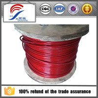 7x7 Red PVC rope steel wire cable