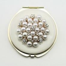 Hot Sale Crystal Cosmetic Mirror Quick Delivry Pocket Mirror Various Color Compact Mirror