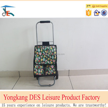 Small order accepted Cheap 600D small portable folding shopping cart from China