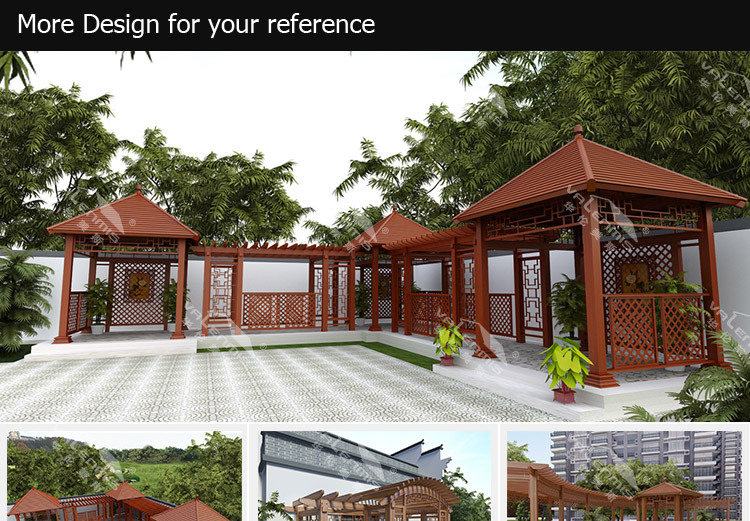 Outdoor plastic roof metal gazebo shed balcony patio cover for Terrace shed ideas