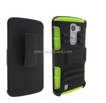green belt clip combo holster case for LG g pro lite