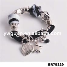 Ювелирные изделия из бисера плетеный шнур браслет домашнее кристалл бусины браслет