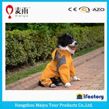 100% waterproof breathable large dog raincoat