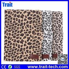 Fashion Leopard Pattern Smart Wake Sleep Function Flip PC PU Leather Case with Card Slot for iPad Mini / iPad Mini 2 R