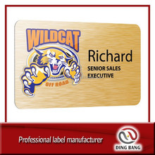 DB acid etched stainless steel nameplate