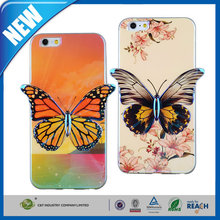 C&T Colorful 3D Flower Painted Simulation Butterfly Design For iPhone 6 Plus, TPU Case Cover For iPhone 6 5.5 Inch