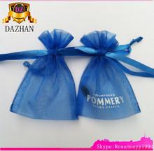 Popular Large Organza Drawstring Bags /Cheap Organza bag