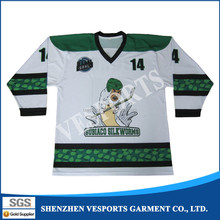 Custom design ice hockey team training t shirt logo printing