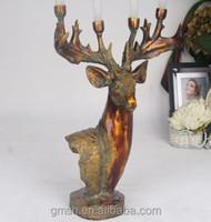 2015 Hot!! Wedding bronze Deer head resin candlestick on Sale