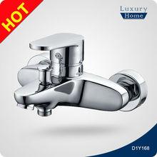 Contemporary brass polished chrome bath shower mixer
