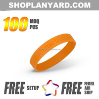 Custom made rubber silicone hand band factory sale