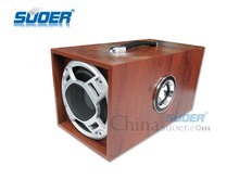 Suoer New 6 Inch Square Car Subwoofer FR Car Audio Subwoofer Wooden Car Subwoofer Speaker