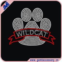 Custom Wildcats Paw Print Rhinestone Heat Transfers
