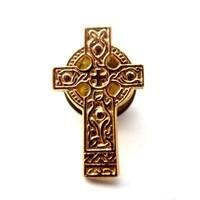 Made unique metal gold Metal Irish old Cross Lapel Pin badge
