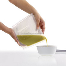 2015 novelty design silicone food pouch Preservatives For Baking Food