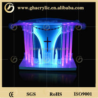 GH-S003 wholesale church pulpit ,lectern podium, modern design acrylic lectern, pulpits for churches