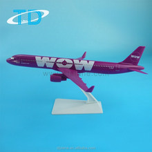 A321 22cm Plastic Model Kits For Airline Promotional Gifts 2015