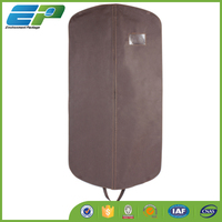 printed brown color nonwoven suit cover garment bag