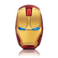 new model!USB 2.4G wireless golden Iron man wireless mouse with LED backlingt