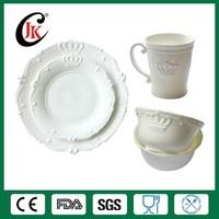 Wholesale cheap white ceramic dinnerware set fine royal bone china