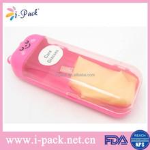 Elegant light weight hard pink plastic eyeglass case,plastic child case for glass