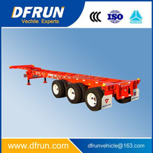 Low price gooseneck container transport trailer / 45FT container semi trailer / two or three axle container chassis