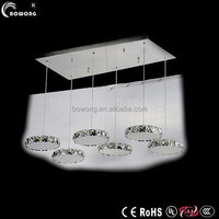 six circles stainless steel ceiling lamp led pendant light with customized