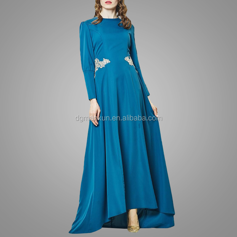 2017 Fashion muslim evening dresses lace applique islamic abayas modest turkey women dress (2).jpg