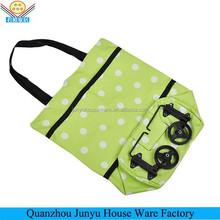 Fashionable design folding shopping bag with wheels