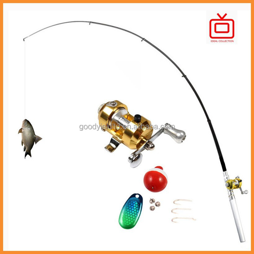 As seen on tv mini fishing rod set fishing tackle portable for Fishing lure as seen on tv