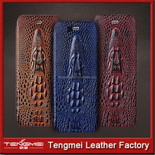 crocodile shape mobile phone PU leather case for samsung galaxy A7, leather phone case for samsung phone