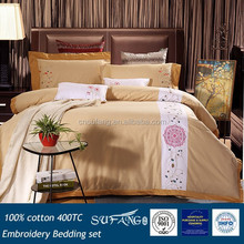 Embroidery applique bedding