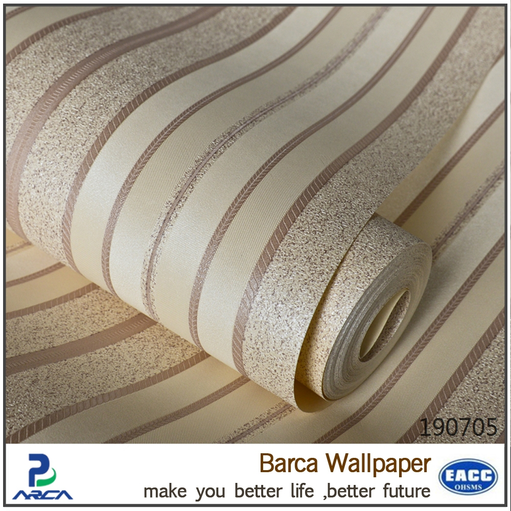 Anti Static Walls : Cheap modern style anti static beauty wallpaper stripes
