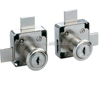 two turn long latch drawer lock for double door/high quality drawer lock for double door